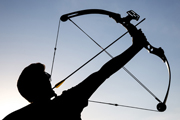 compound bow show 123rf