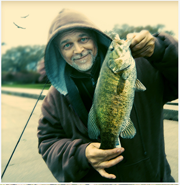 My friend Bob Long (BossBob50) with a nice fly-caught smallmouth bass